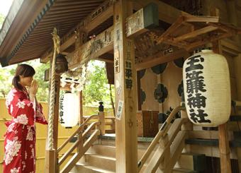 庭園内にある玉簾神社2